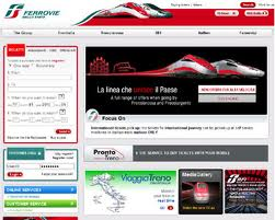 Train website homepage