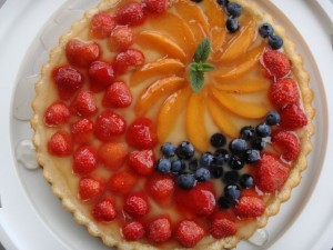 Dining at La Massa ncludes a nice dessert  -  crostata di frutta or fruit tart