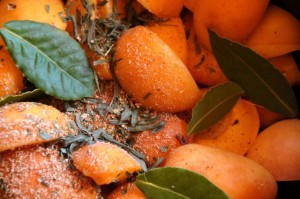Apricots and tarragon